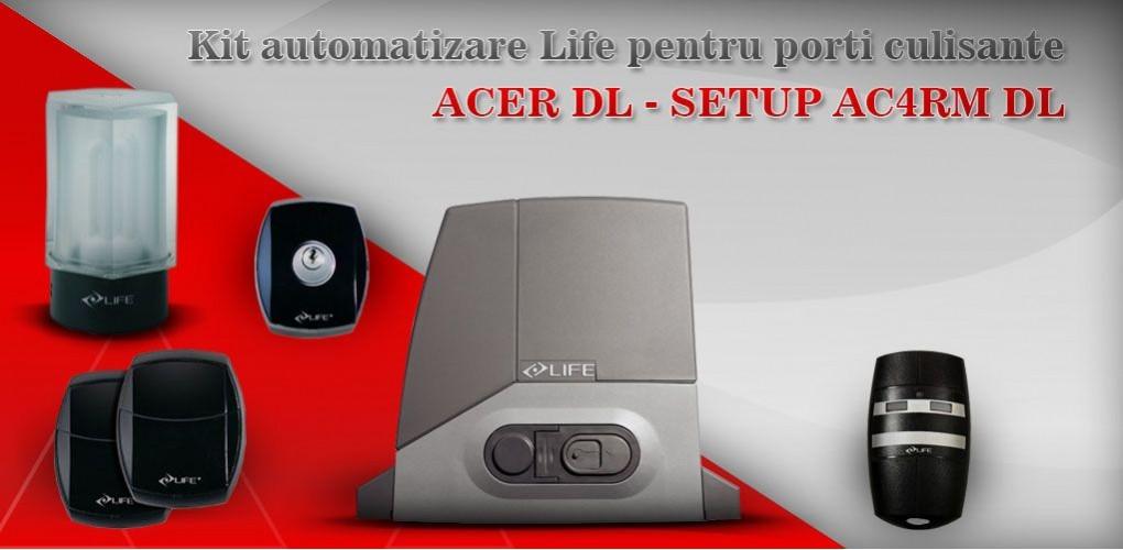 kit automatizare poarta culisanta ACER DL SETUP AC4RM DL
