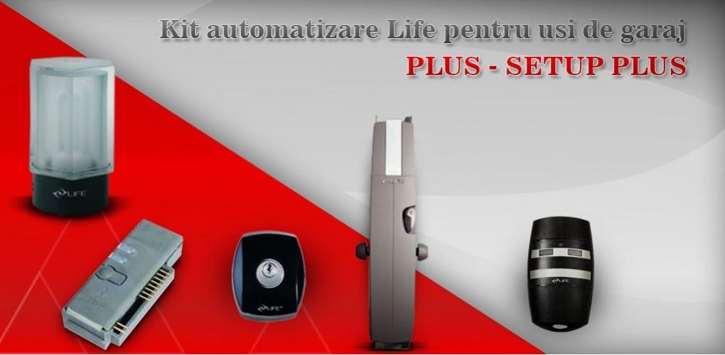 Kit automatizare Life usa de garaj PLUS - SETUP PLUS