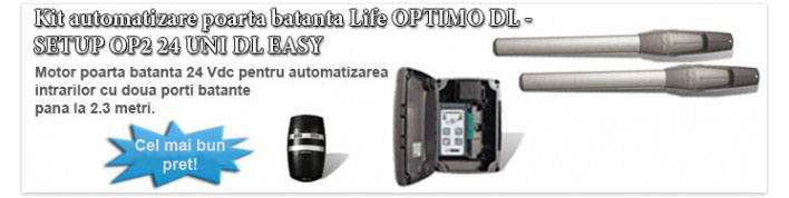 Kit automatizare poarta batanta Life OPTIMO DL SETUP OP2